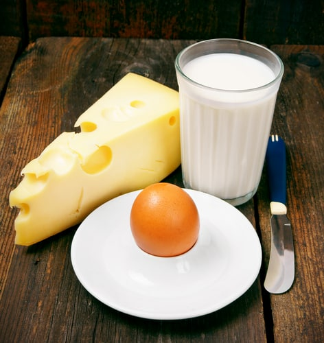cheese eggs milk