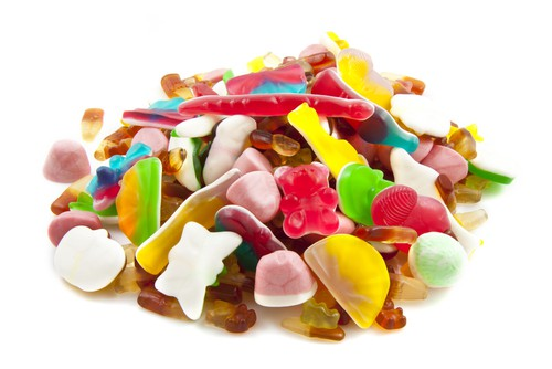 Candy with artificial flavoring