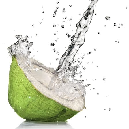Green coconut with water