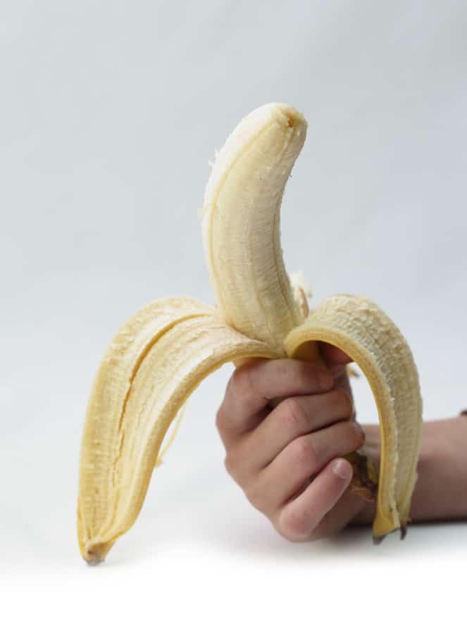 Banana in a hand