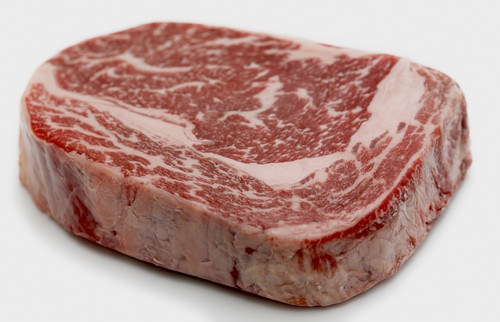 Marbled raw meat