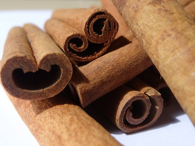 Pile of cinnamon