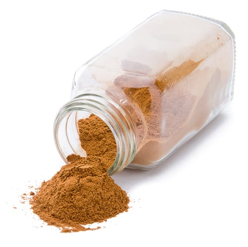 Cinnamon in a jar
