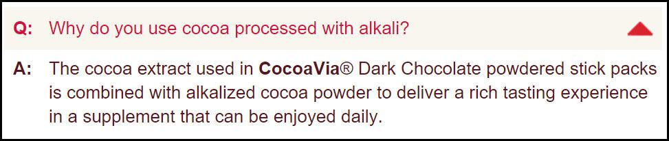 CocoaVia and Dutch Processing
