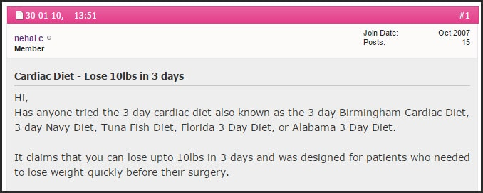 Introduction to 3 Day Diet