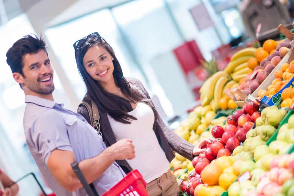 Concept of shopping for healthy food