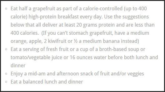 App for Health's Grapefruit diet
