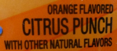 Orange Flavored Citrus Punch