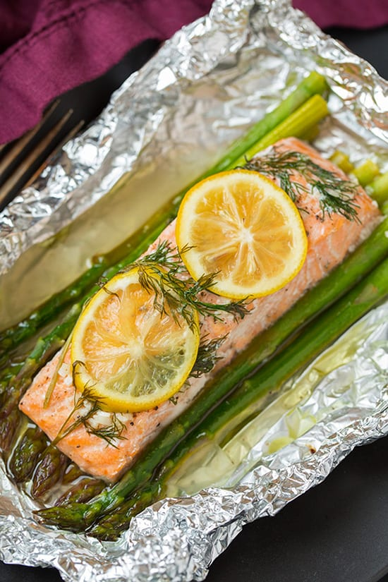 Salmon and Asparagus in Foil