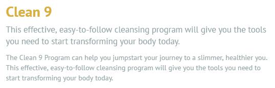 Clean 9 program