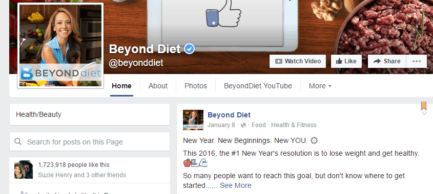 Beyond Diet Facebook