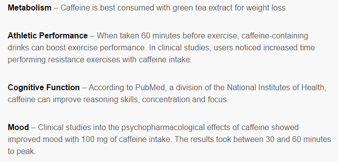Caffeine benefits