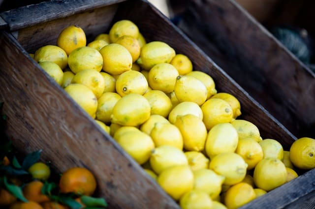 Lemons at the market
