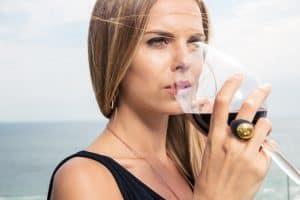 Woman Drinking Wine