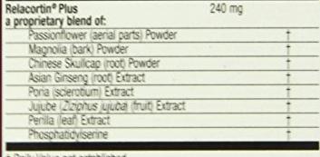 Relacore ingredients