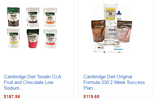 Cambridge diet products