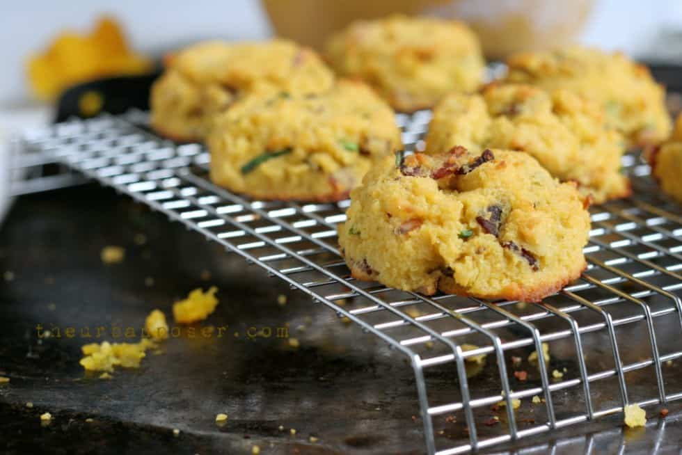 Pumpkin Bacon and Chive Biscuits