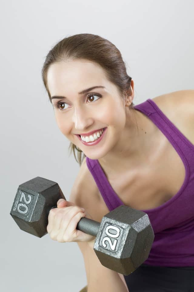 Girl with weights