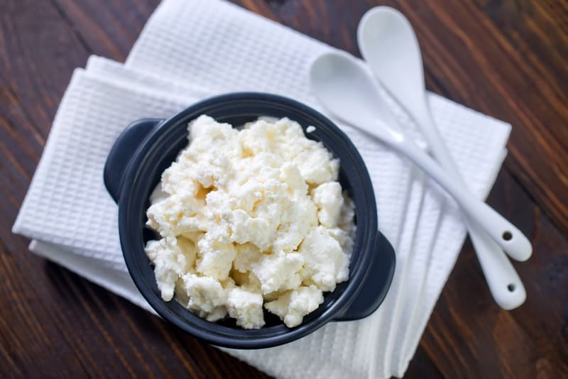 Eat cottage cheese before bed
