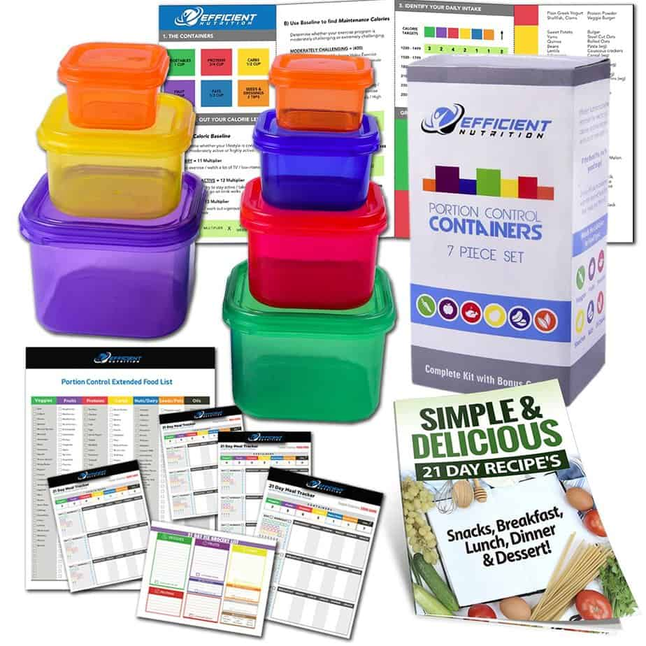 Efficient Nutrition Portion Control Containers Kit