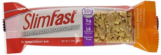 Slim Fast Advanced Nutrition Meal Bar, Caramel Almond Sea Salt