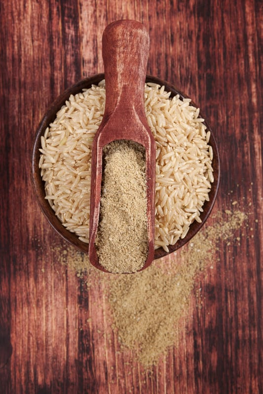 Brown rice powder