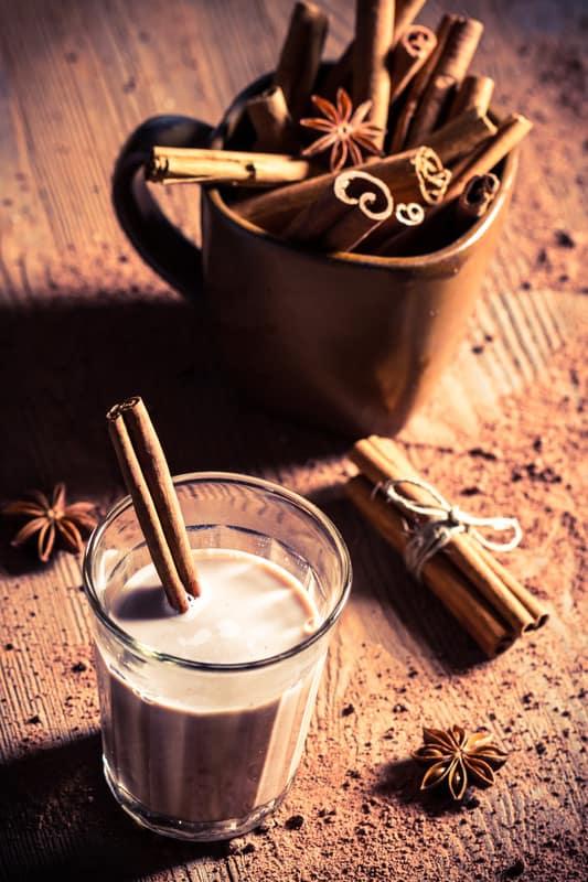 Cinnamon and cocoa