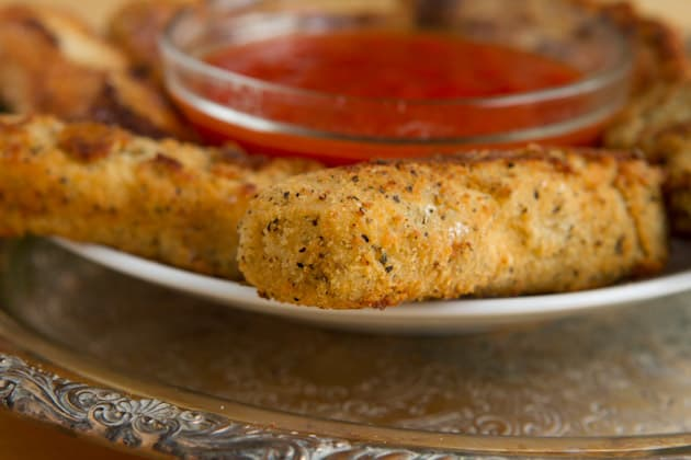 Almond Flour Mozzarella Sticks