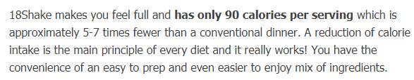 90 Calories per Serving
