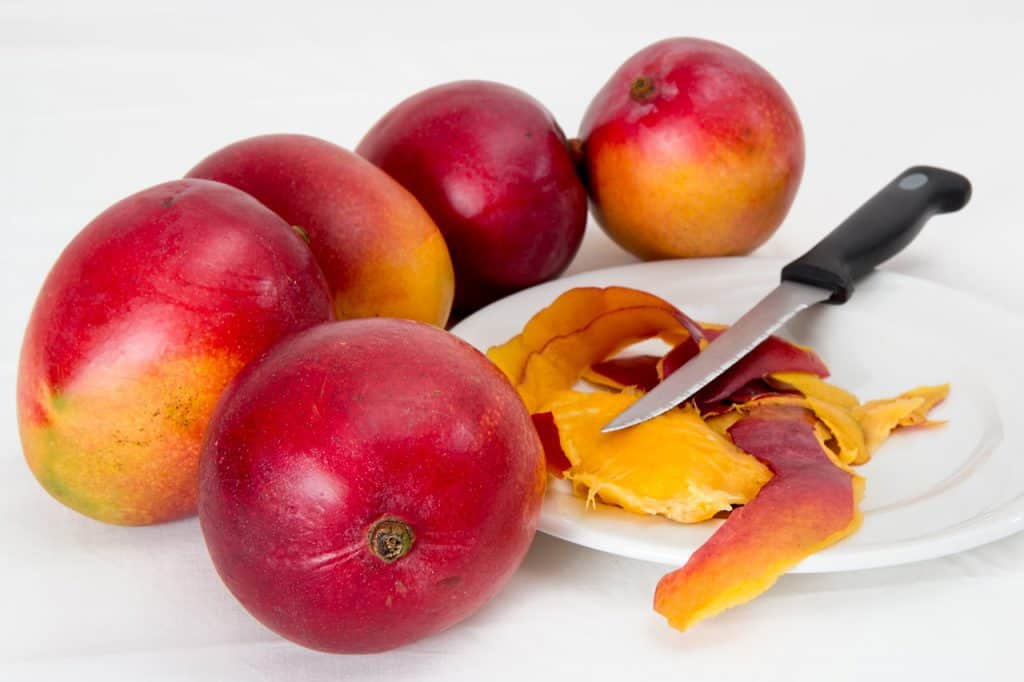 Mangoes and mango peel