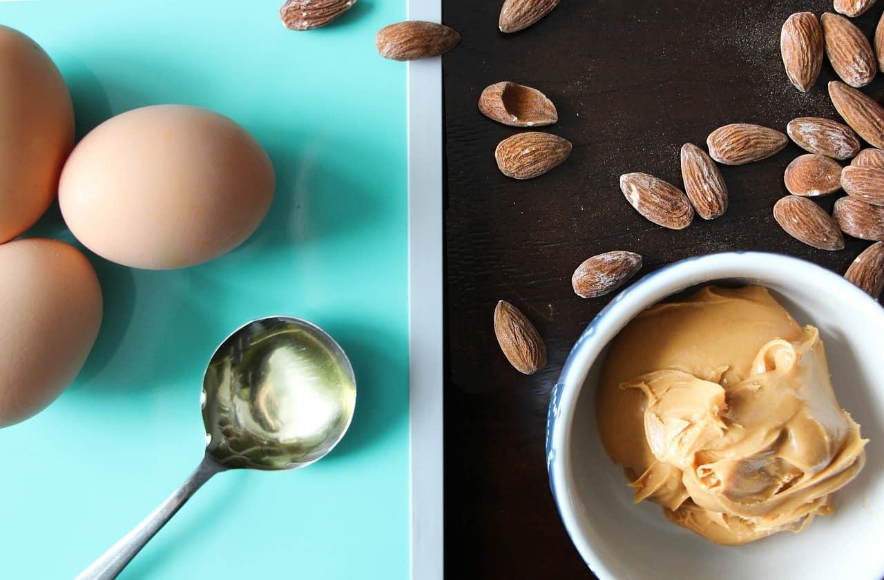 Almond butter concept