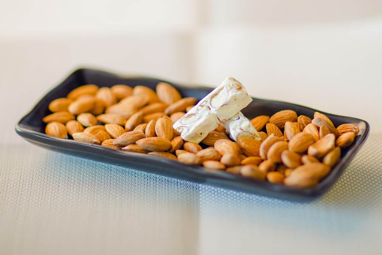 Almonds on a plate