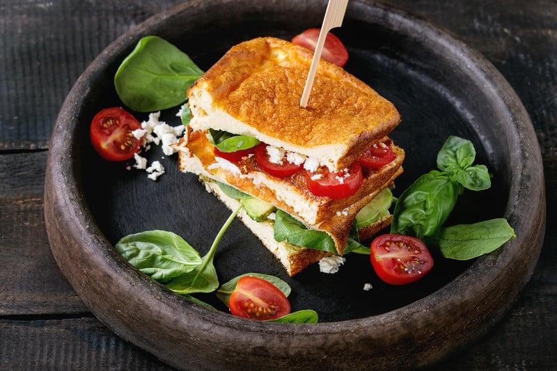 Cloud Bread Sandwich