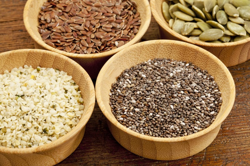 Low carb high fiber seeds