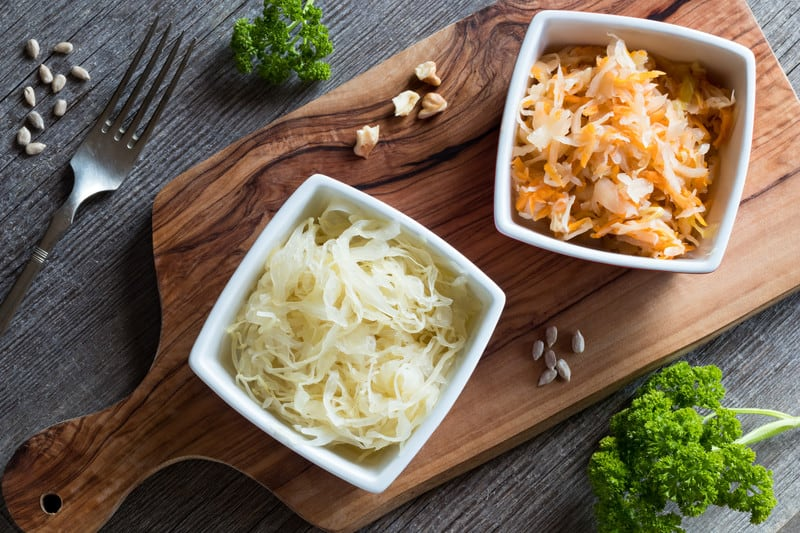 Probiotic food on a board