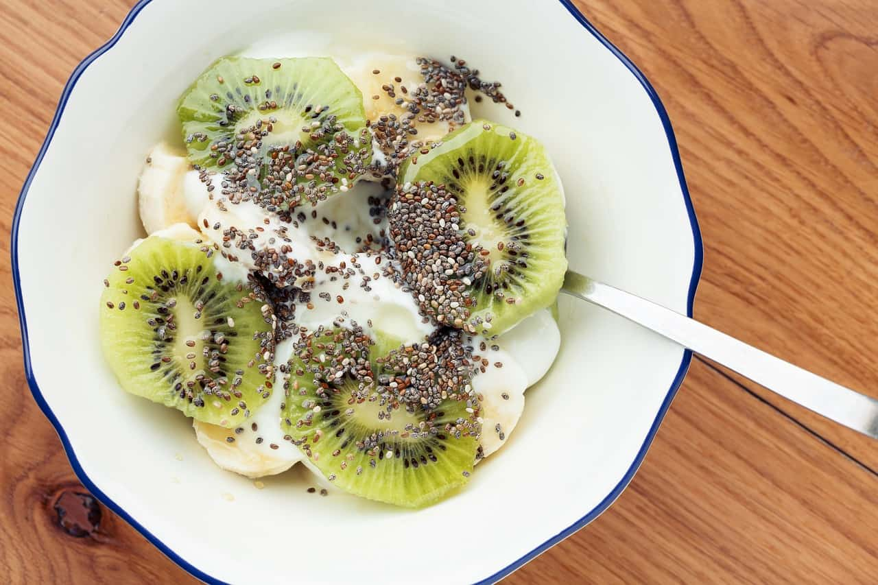 Greek yogurt and chia bowl