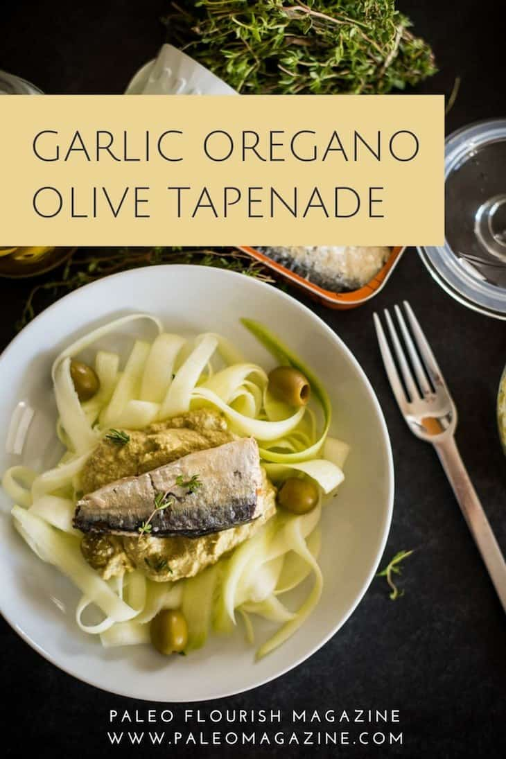 Garlic Oregano Olive Tapenade