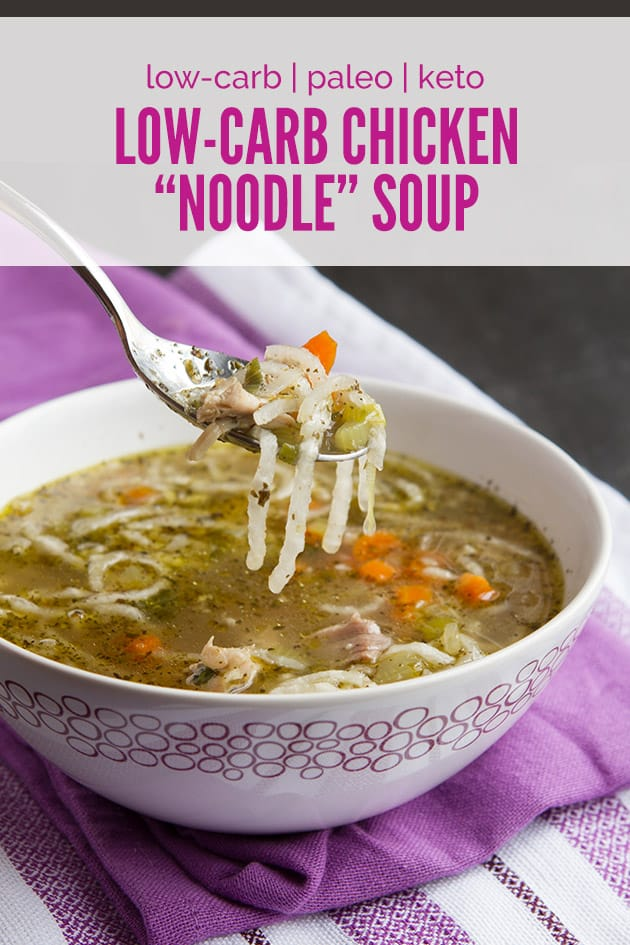 Low-Carb Chicken 'Noodle' Soup