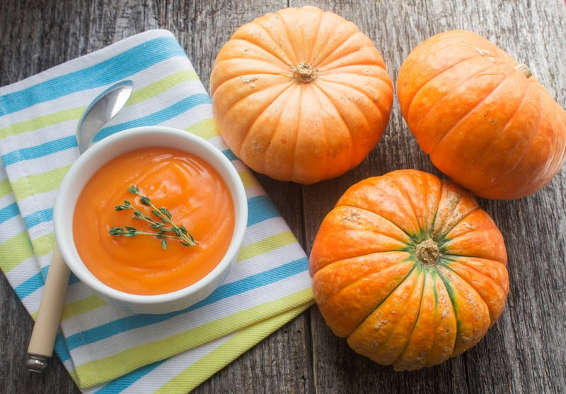 Pumpkin and pumpkin soup