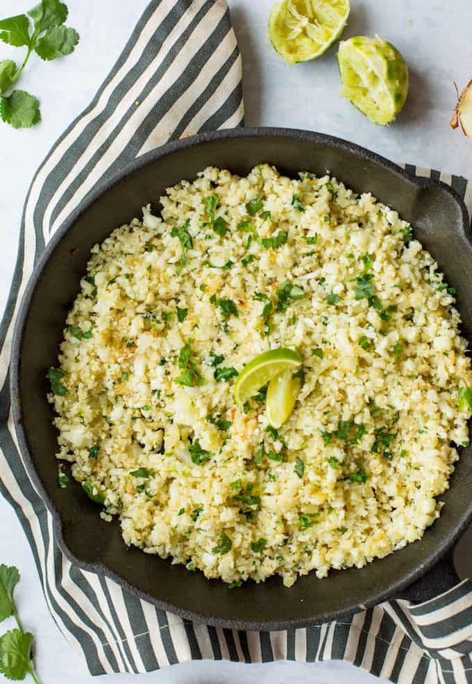 Cilantro Lime Cauliflower Rice from A Saucy Kitchen