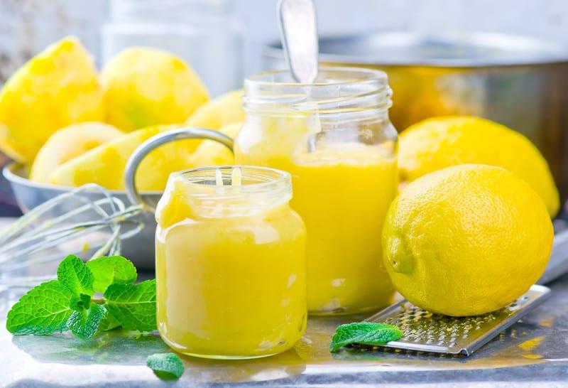 Lemon curd preparation