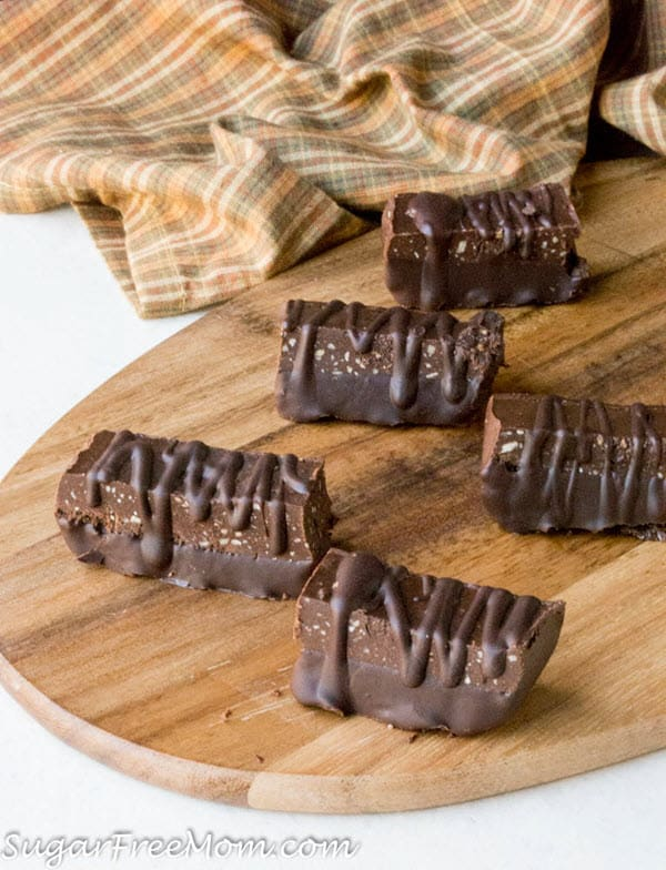 Low Carb Chocolate Fudge Protein Bars