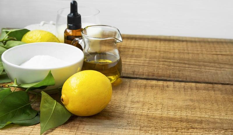 Natural skincare with lemon
