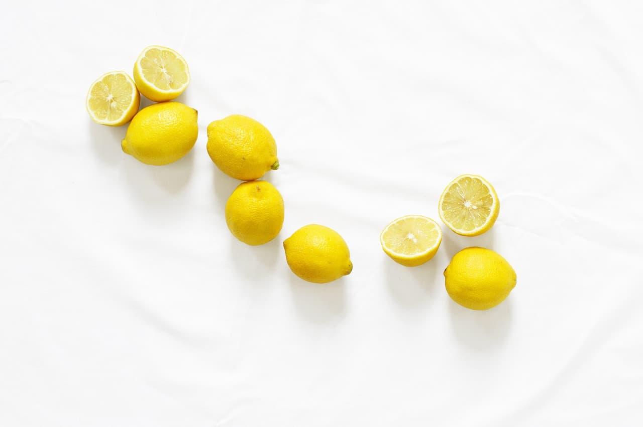 Selection of lemons on a table