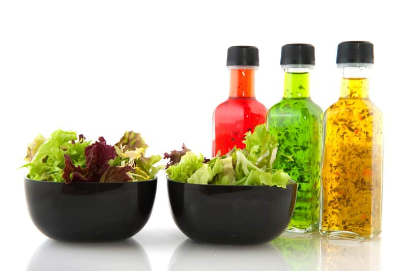 Salad and salad dressing bottles