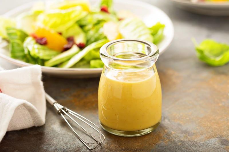Homemade mustard dressing