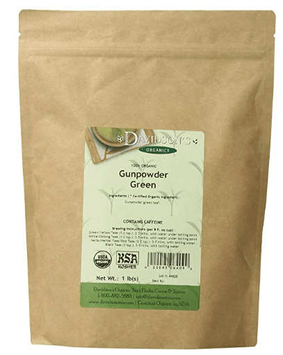 Davidson's Organics Tea Gunpowder Green