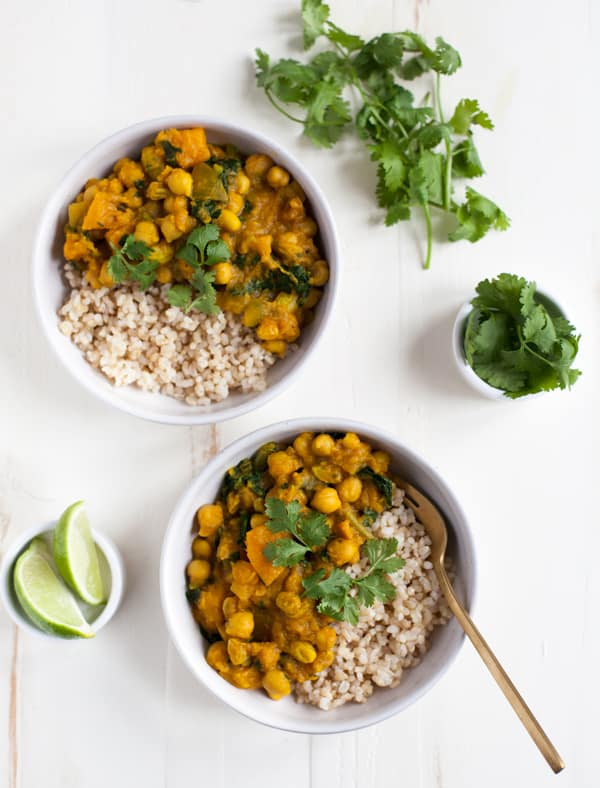 Golden Butternut Squash and Chickpea Curry