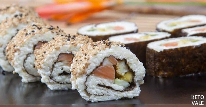 Keto Salmon Sushi Rolls