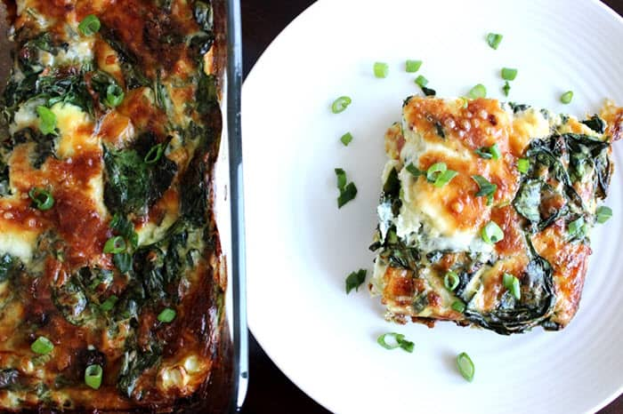 Spinach Mozzarella Egg Bake